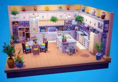 (3) 💙Kitchen Dollhouse💙 NoCC : thesims Sims Freeplay Houses, Sims 4 Houses, Sims 4 Challenges, Sims 4 House Design, Casas The Sims 4, Sims 4 Build, House Layouts, Sims Cc, Home Interior Design