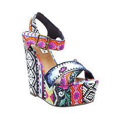 Aztec Print Women Wedge Shoes - Bohemian Aztec Print Women Wedge Shoes