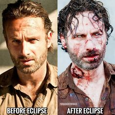 """Lol 1,725 Likes, 44 Comments - The Walking Dead (@twdangelwings) on Instagram: """"Has anyone seen the eclipse?? #thewalkingdead #twd #amc #andrewlincoln #rickgrimes #funny #twdfamily"""""""