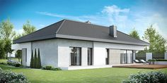 Find home projects from professionals for ideas & inspiration. Projekt domu HomeKONCEPT 38 by HomeKONCEPT Casas Country, Ranch Style Homes, New Home Designs, Types Of Houses, Architecture, Building A House, Home Goods, New Homes, Exterior