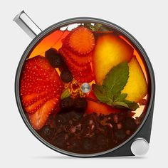 The Porthole Infuser. Inspired by submarine portholes, this striking infuser can be used to create cocktails, dressings, infused oils and more. / BTW, they stack, conveniently.