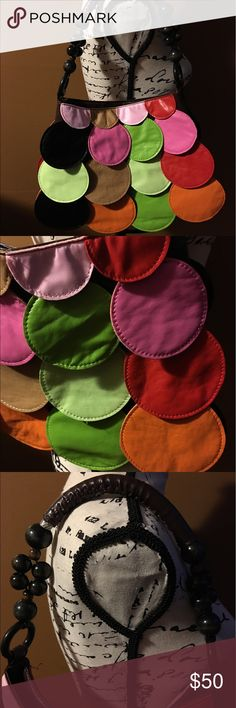 NWOT MULTI COLOR BEADED HIPPIE HANDBAG PURSE Multi flip circle purse unbranded Bags Hobos