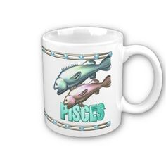 Valxart Aquarius Pisces zodiac friendship Coffee Mug   See Valxart.com or Zazzle Valxart store at http://zazzle.com/valxart*