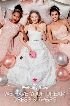 When we say we have bridesmaids dresses they'll want to wear again, we really mean it! Macy's Wedding Shop not only has gorgeous wedding gowns but also a wide-assortment of long and short bridesmaid dresses to choose from. Check it out! Wedding Bells, Wedding Gowns, Hair Wedding, Prom Hair, Bridal Gowns, Wedding Stuff, Short Bridesmaid Dresses, Bridesmaids, Purple Highlights
