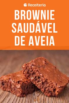 Receita Brownie Fit, No Sugar Desserts, Cooking Recipes, Healthy Recipes, Health Diet, Deserts, Food And Drink, Veggies, Low Carb