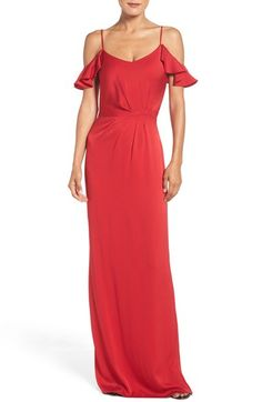 Free shipping and returns on Shoshanna Georgette Gown at Nordstrom.com. This vivid slipdress is slinky and sensual in concept and tailored to skim, not cling to, the figure for well-balanced elegance.
