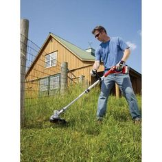 Cordless straight shaft string trimmer lst136 the home depot