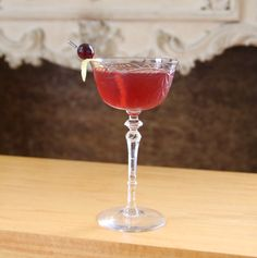 Cranberry & Rye 2 ounces of rye (Redemption Rye) 1/2 an ounce 100% cranberry juice 1/2 an ounce sweet vermouth 1/4 ounce of simple syrup dash of orange bitters dash of Angostura Garnish with a thin lemon peel and a cranberry