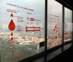 observatory: digital city installation by citrico grafico + cocolab Office Graphics, Window Graphics, Environmental Graphic Design, Environmental Graphics, Wayfinding Signage, Signage Design, Banner Design, Exhibition Display, Exhibition Space