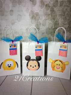TSUM Tsum Favor bolsas con etiquetas
