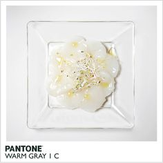 Scallop Carpaccio Recipe: Pantone Warm Bray 1C by Ani Tzenkova  #Scallops