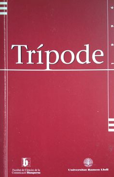 Revista Trípodos, 1, Facultat de Comunicació Blanquerna, Universitat Ramon Llull, 1996