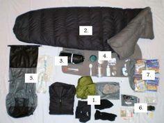 Inexpensive ultralight gear list #backpacker