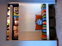 Boys Closet turned Reading Nook