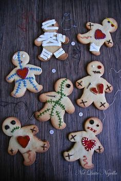 Voodo doll cookies