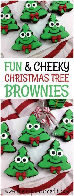 This year we have some fantastic Christmas themed fun food ideas which are perfect for the Christmas party or for making themed food with the kids.  #Christmastree #Christmas #christmasfood #Christmasparty #christmascookies #christmasideas #brownies #googlyeyes #kbnmoms