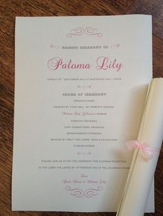 Baby Shower Invitation Card For Naming Ceremony And  Name