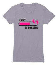 Baby Is Loading Mommy To Be Women's Tee Slate Women's T-Shirt Front