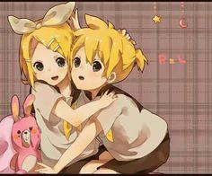My cuddly Rin-chan......  -Len-