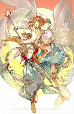 Sakura Card Captor - Sakura and Yue Cardcaptor Sakura, Yue Sakura, Sakura Card Captor, Syaoran, Anime Shojo, Manga Anime, Anime Art, Shoujo, Anime Sexy