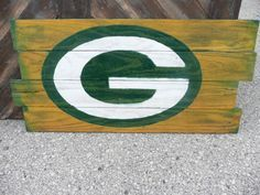 Green Bay Packers Pallet Sign on Etsy, $55.00