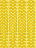 Orla Kiely House for Harlequin Linear Stem Wallpaper, Yellow, 110400