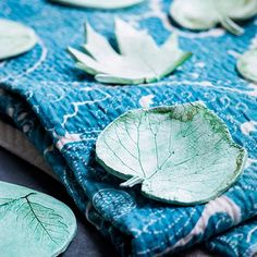 Make beautiful coasters from real leaves and air-drying clay.