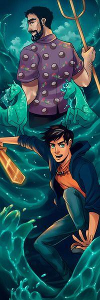 Poseidon and Percy by monkeyscandance