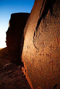 An Ancestral Puebloan (Anasazi) petroglyph panel, Comb Ridge, southern Utah near Bluff. Photo: Adam Schallau
