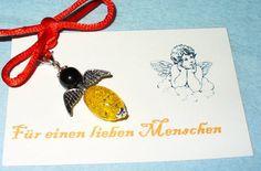Schutzengel mit Glasperlen und Karte 13 von MeinSchmuck auf Etsy