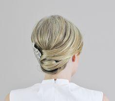 Wedding hair idea - Wrapped Updo tutorial