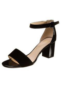 SUSIE DEVA - Sandaalit nilkkaremmillä - musta