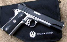 Ruger 1911 with Black KG Gunkote Slide
