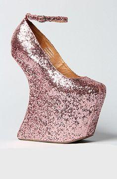 Jeffrey Campbell The Streetcred Shoe in Pink Glitter: $160.00 http://www.amazon.com/gp/product/B008VVU3QG?ie=UTF8=1789=B008VVU3QG=xm2=luclan-20#