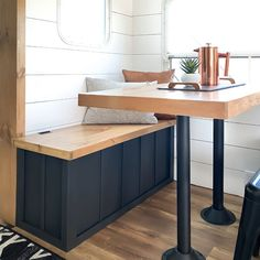 Dining Booth, Dining Table, Table Bench, Tiny Camper, Camper Life, Rv Life, Beach Camper, Rv Campers, Camper Table