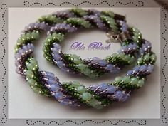 Purple Black: Beaded Bead