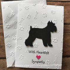 Miniature Schnauzer Cards Stationery Set Greeting Pet Sympathy Veterinarian Vet Note Dog By PaperArtFlower