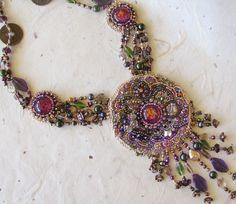 Myra Wood beaded gem necklace