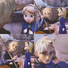 Find images and videos about frozen, elsa and jack frost on We Heart It - the app to get lost in what you love. Jelsa, Jack Y Elsa, Jack Frost And Elsa, Frozen And Tangled, Disney Frozen Elsa, Disney Princess Pictures, Disney Pictures, Dark Jack Frost, Twilight Equestria Girl