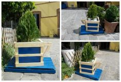 Pallet Coffee Cup Planter
