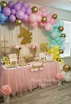 Pink and gold star balloons pink gold first birthday baby shower bridal shower twinkle twinkle little star party twinkle baby shower – Artofit Unicorn Themed Birthday Party, 1st Birthday Party For Girls, Birthday Balloons, Birthday Ideas, Balloon Decorations Party, Birthday Party Decorations, First Birthdays, Baby Shower, Bridal Shower