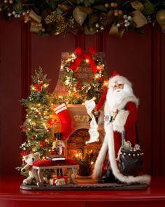 Mme Santa Claus Maison de Poupées Miniature De Noël Temps Noël Vacances