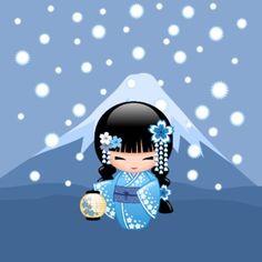 Momiji Doll, Kokeshi Dolls, Cute Japanese, Japanese Art, Happy Girls Day, Kokeshi Tattoo, Kawai Japan, Asian Quilts, Asian Cards