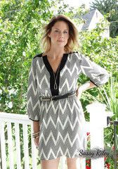 Dotted Chevron Dress    Your next outfit is one click away at Sassy Riley's Women's Boutique www.SassyRiley.com