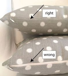 Learn how to install an invisible zipper properly on a pillow in this step-by-step tutorial by Jona Giammalva. -Sewtorial #Pillow