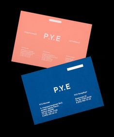 P.Y.E Corporate Identity by Lesha Galkin and Olia Marchenko See more: https://mindsparklemag.com/design/p-y-e-corporate-identity/ More news: Like Mindsparkle Mag on Facebook