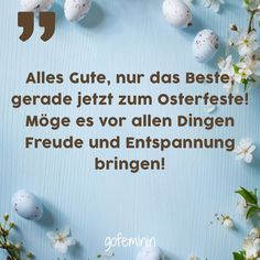 Happy Easter: Die schönsten Ostersprüche für Karten Lidl, Happy Easter, Place Card Holders, Cards, Inspiration, Wordpress, Blog, Beauty, Uplifting Quotes