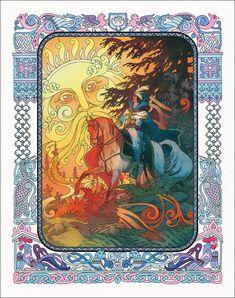Russian Mythology, Ivan Bilibin, Seven Knight, Russian Folk Art, Fairytale Art, Art Nouveau, Illustration Artists, Fantastic Art, Ukraine