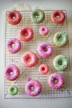 pretty collection of vanilla glazed donuts by coco cake land