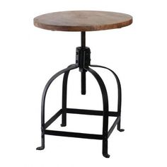 This Bold And Rustic Industrial Bar Counter Stool Features